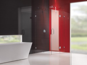 Red Shower Screen