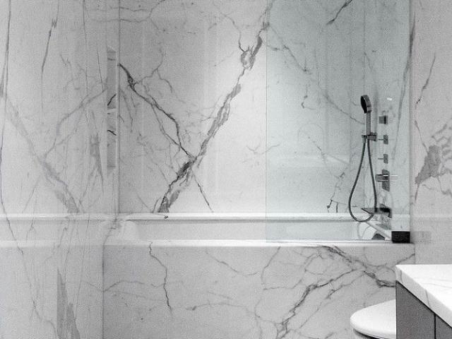 Frameless Bath Screen Swing Door #12